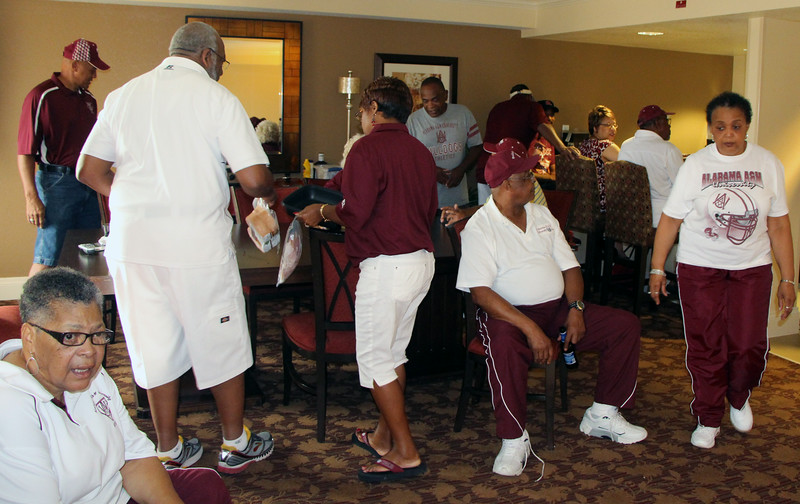 Across the Hall:  The Athletic Community Resource Group holds reception.