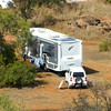 The motorhome from 400 feet in the Bungle Bungle Park