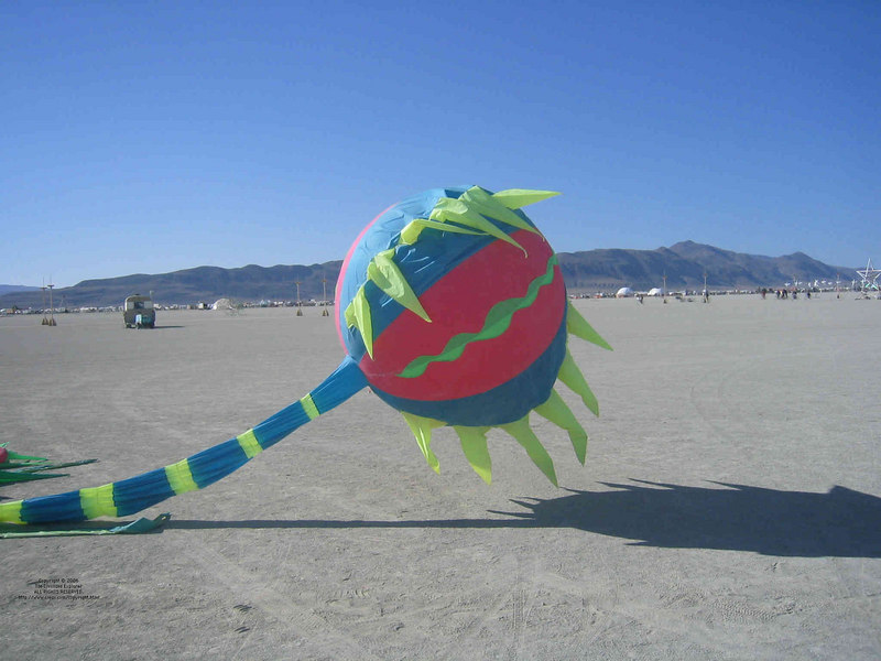 The Venus Eyetrap during an impotent period of its life on the playa.