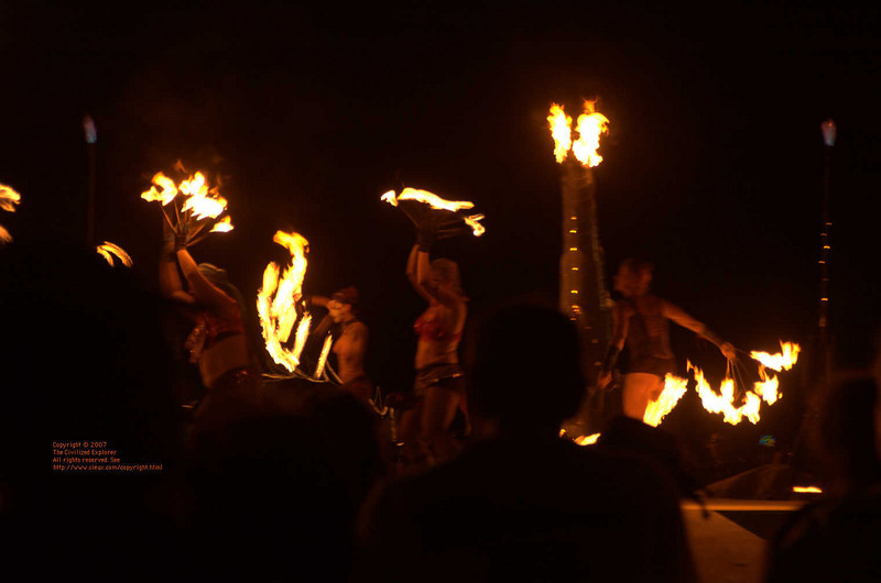 A still shot of the dancers.