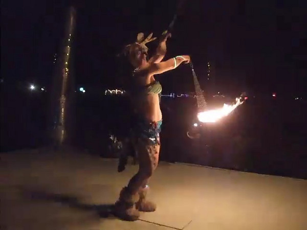 We watched the Burn from a platform some distance away, and we had our own private spinner performing for us.