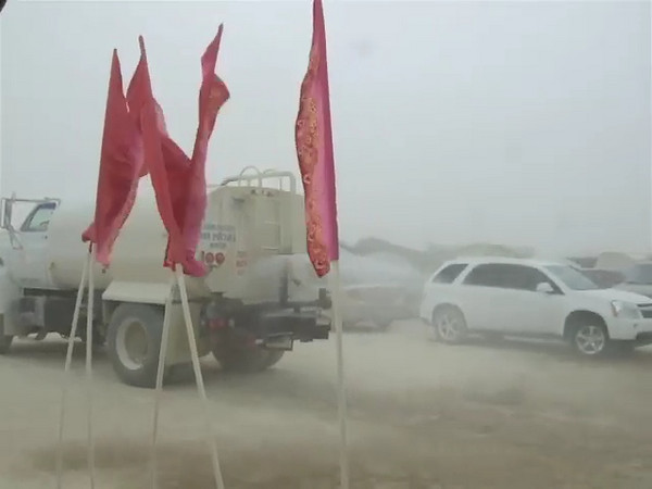 We were very happy to see the water truck spraying the road during a dust storm to abate the dust.
