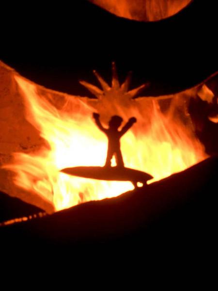 Detail of the Burn Barrel at 7:00 o'clock.