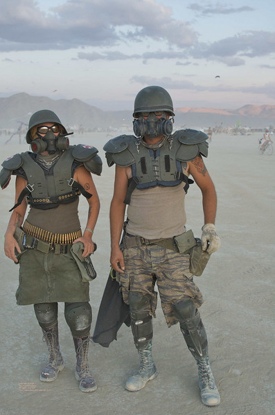 Dust protection on the playa.
