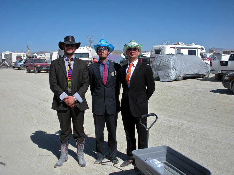 Three gentlemen of the playa.