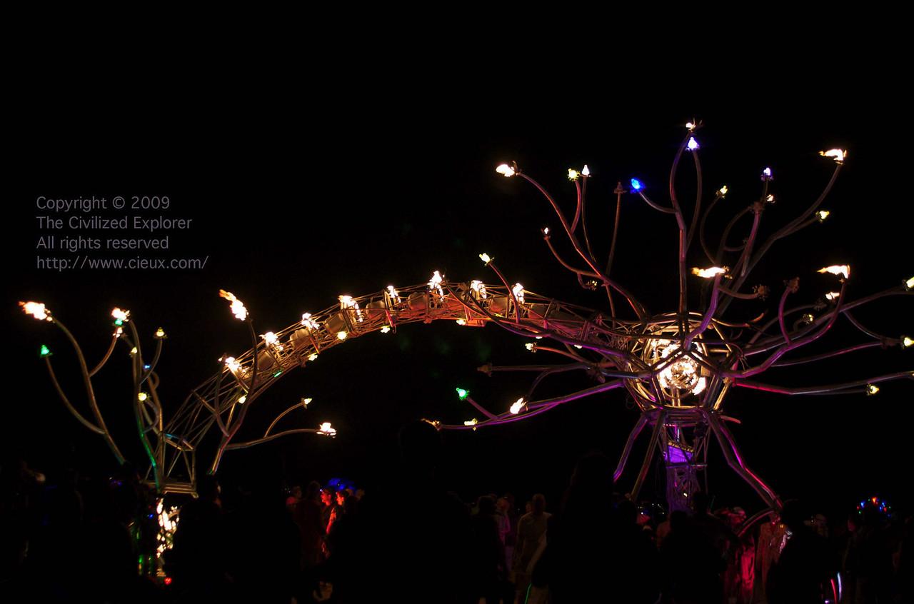 Soma at night, courtesy the Flaming Lotus Girls.