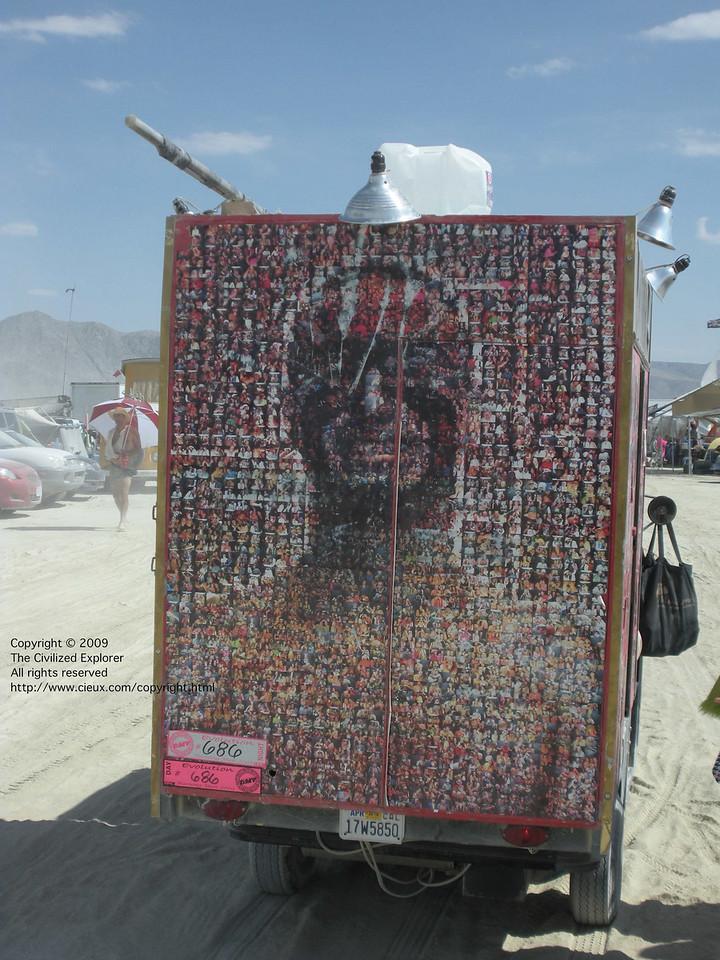 A mosaic of portraits showing Paul Addis's mugshot.
