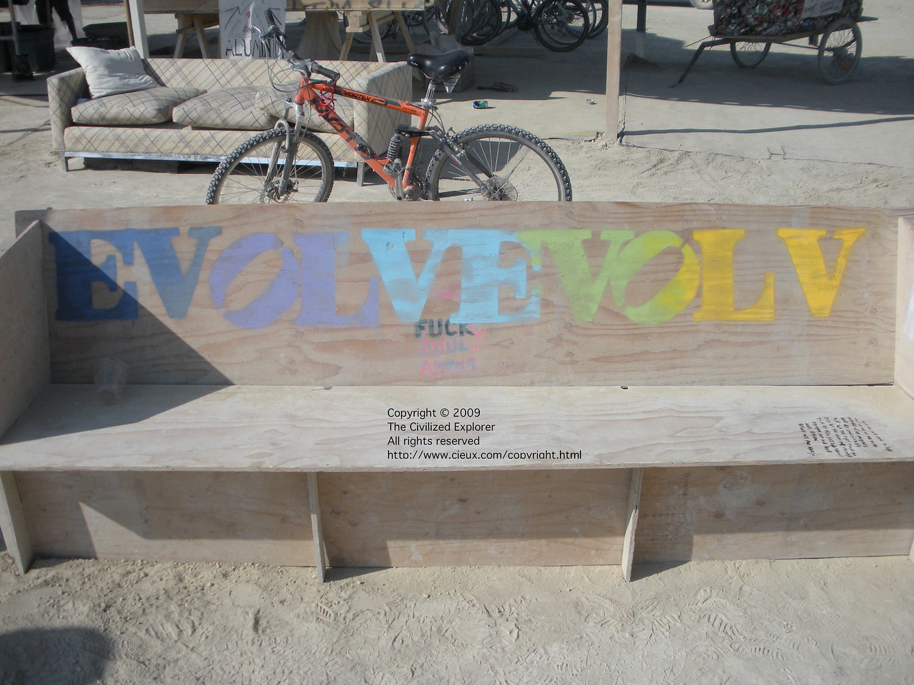 Just a simple bench with a message.