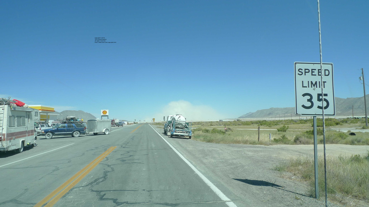 A view of the dust storm from downtown Gerlach.