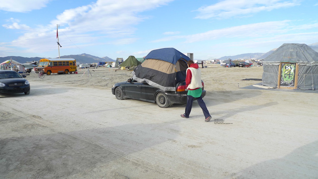 How to relocate your tent.