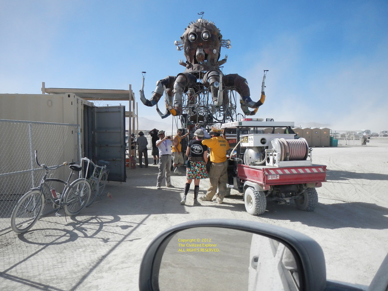 "El Pulpo Mecanico (mechanical octopus) getting gassed up. The official site is here:<br />  <a href=""http://www.elpulpomecanico.com"">http://www.elpulpomecanico.com</a><br /> <br /> Many thanks to Jerry Kunkel, Steve Gellman, and Duane Flatmo for the steampunk octopus. Check the action video somewhere in this gallery."