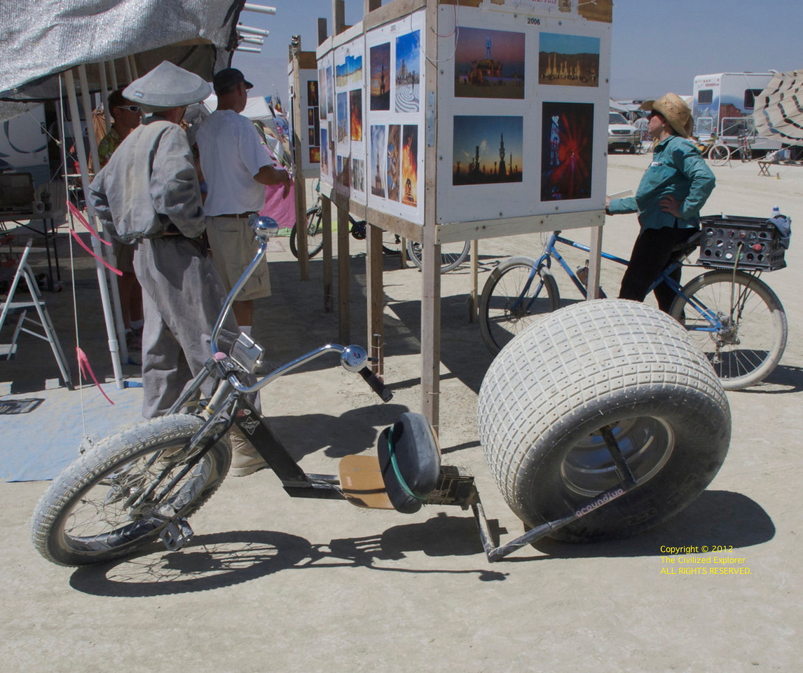 Very interesting bike on the playa. Not the propulsion.