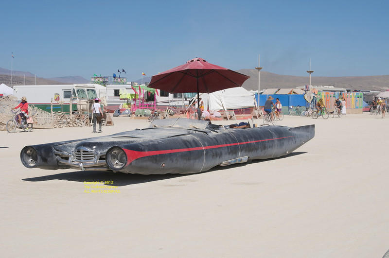 It's a good thing there aren't any curbs on the playa.