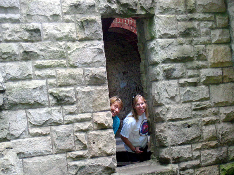 Stephanie and Mary at the castle