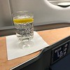 Ledge with sparkling water.  Served before departure.