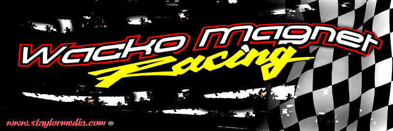 Bumper sticker 3x9 for a new SX Race team Wacko Magnet racing.