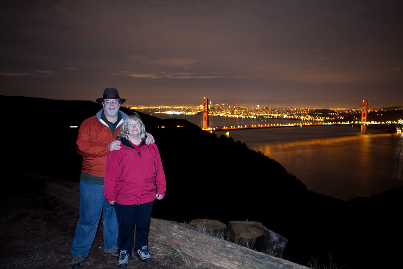 New Years Eve at the Golden Gate from Mount Tamalpais State Park