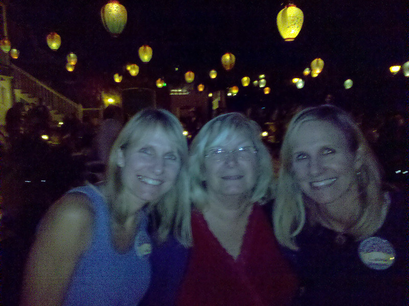 Finishing up the birthday lunch at the Blue Bayou in Disneyland.