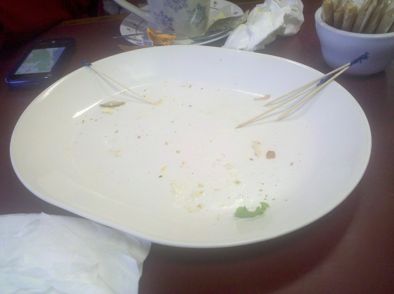 That was a very good club sandwich.<br /> Louise and I were smart to share.