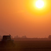 <h2>The Remains of the Day</h2></br></br>I was inspired by this scene as we drove along Highway 41 East of Kettleman City. The haze and sun made for quite a scene.  The farmer was nice and stopped to ask if we were lost.