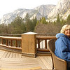This was a balcony that is shared by just two guest rooms on the Ahwahnee Hotel in Yosemite.  It is big enough to play basketball.</br></br>I did this as a stitch with the point and shoot.  It shows how you have to take care while doing it otherwise they don't turn out well (like this one.)