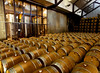 """Barrels at <a href=""""http://www.justinwine.com/"""">Justin Vineyards and Winery</a>."""