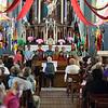 Samedi 21 avril 2012, Promasens, le concert des choeurs d'enfants à l'église. Ici, Croc'Notes (Attalens), dirigé par Rolf Hausamann.