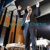 Dimanche 22 avril 2012, dans la salle polyvalente, le responsable musical et compositeur de la messe est ovationné.
