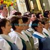 Samedi 21 avril 2012, concert des choeurs paroissiaux. Ici, le choeur mixte de Semsales sous la direction de Marie-José et Jean-Michel Monney.