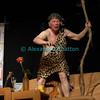 """Vendredi 20 avril 2012, Promasens, salle polyvalente: le spectacle intitulé """"L'coup du lapin"""" donné par la troupe du Cabaret d'Oron. Tarzan et sa liane."""