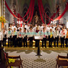Samedi 21 avril 2012, Promasens, Eglise. Concert des choeurs paroissiaux. Ici, le choeur-mixte de Chatel-St-Denis sous la direction de Marcel Dorthe.