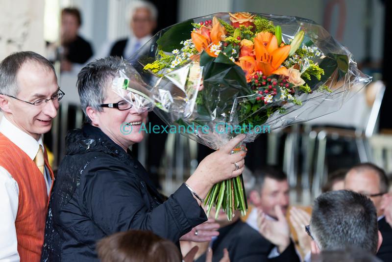 Dimanche 22 avril 2012, l'épouse de Georges Godel est remerciée pour avoir dû supporter les absences supplémentaires de son mari, président du Conseil d'Etat et président du comité d'organisation des Céciliennes 2012.