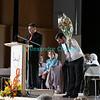 Dimanche 22 avril 2012, le compositeur de la messe Gonzague Monnet chaleureusement remercié et fleuri pour son travail.