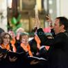 Samedi 21 avril 2012, concert des choeurs paroissiaux. Ici, Philippe  Demierre dirige le choeur mixte d'Ursy.