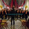 Samedi 21 avril 2012, concert des choeurs paroissiaux. Ici, le choeur mixte d'Ursy sous la direction de Philippe Demierre.