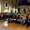 Samedi 21 avril 201: .concert des choeurs paroissiaux dans une église fort bien garnie.