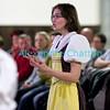 Samedi 21 avril 2012, concert des choeurs paroissiaux. Ici, Marie Grandjean dirige le choeur mixte de Porsel.