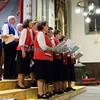 Samedi 21 avril 2012, Promasens, Eglise. Concert des choeurs paroissiaux. Ici, le choeur-mixte Remaufens sous la direction de Jean-Claude Emonet.