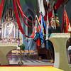 Jeudi 19 avril 2012, église de Promasens: le discours du conseiller d'Etat et président du comité d'organisation Georges Godel à l'issue du concert devant le jury. A gauche, le speaker de la fête René Vonlanthen.