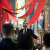 Dimanche 22 avril 2012, la messe du dimanche matin.<br /> La messe de 10h est donnée avec tous les choeurs de l'Association Saint-Henri (et la  Cécilienne d'Oron). Ici, le responsable musical Gonzague Monney.