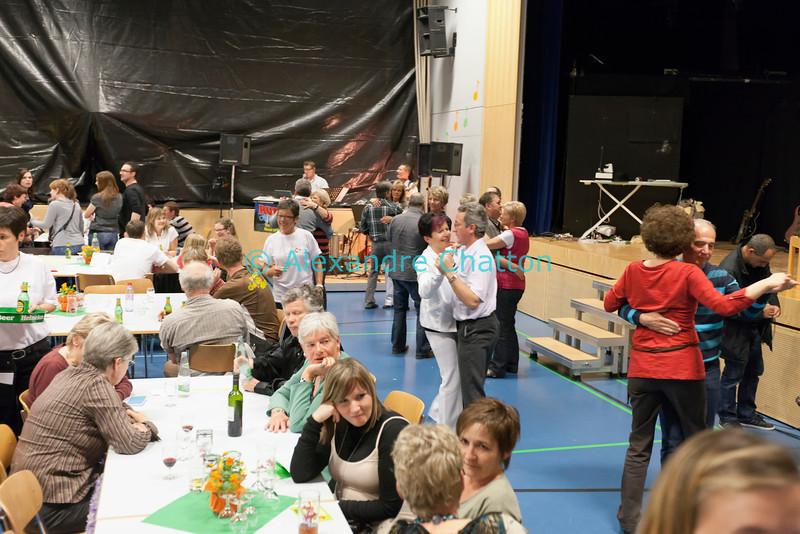 Vendredi 20 avril 2012, Promasens: le bal champêtre animé par le groupe Rudi's Oberkrainer et organisé dans la salle polyvalente après le spectacle du Cabaret d'Oron.