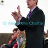 Samedi 21 avril 2012, Promasens, Eglise. Concert des choeurs paroissiaux. Ici, Marcel Dorthe dirige le choeur-mixte de Chatel-St-Denis.