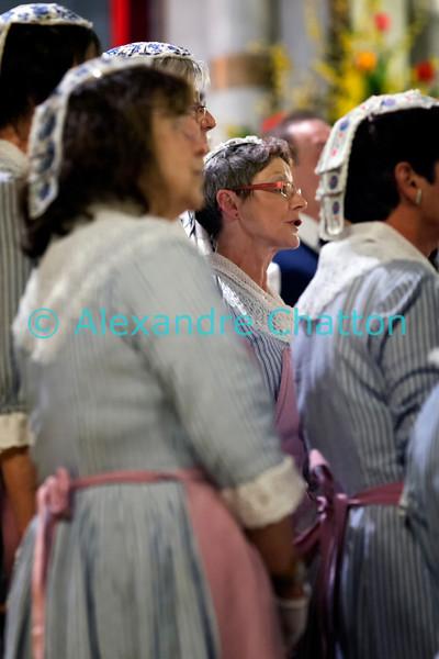 Samedi 21 avril 2012, Promasens, Eglise. Concert des choeurs paroissiaux. Ici, le choeur-mixte de Rue sous la direction de Fulgence Nsanzimana.