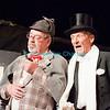 """Vendredi 20 avril 2012, Promasens, salle polyvalente: le spectacle intitulé """"L'coup du lapin"""" donné par la troupe du Cabaret d'Oron. Sherlock Holmes et Arsène Lupin."""