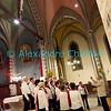 Samedi 21 avril 2012, Promasens, Eglise. Concert des choeurs paroissiaux. Ici, le choeur-mixte d'Attalens, sous la direction de Charly Torche.