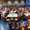 """Vendredi 20 avril 2012, Promasens, salle polyvalente: le spectacle intitulé """"L'coup du lapin"""" donné par la troupe du Cabaret d'Oron devant une salle bien pleine et conquise!"""
