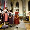 Samedi 21 avril 2012, concert des choeurs paroissiaux. Ici, le choeur mixte de Porsel sous la direction de Marie Grandjean.