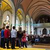 SSamedi 21 avril 2012, Promasens, le concert des choeurs d'enfants à l'église. Ici, Croc'Notes (Attalens), dirigé par Rolf Hausamann.