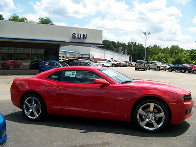 side view 2010 Camero at what use to be Yenko Chevy now Sun Chevrolet.