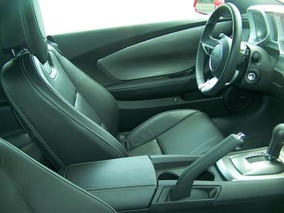 New 2010 Camero RS interior.